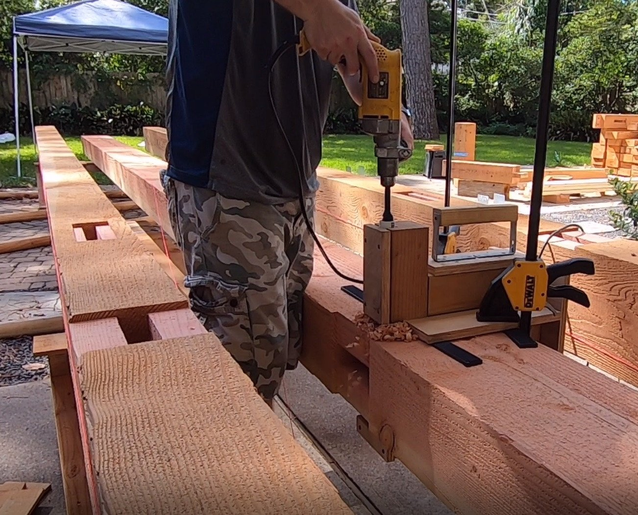 Timber Framing Drill Guide Jig