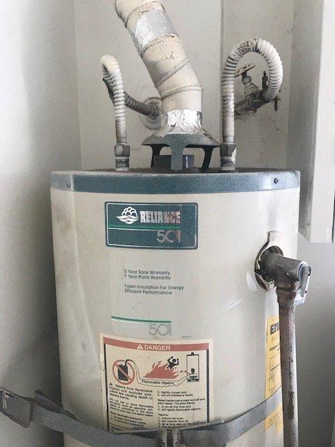 top of heater
