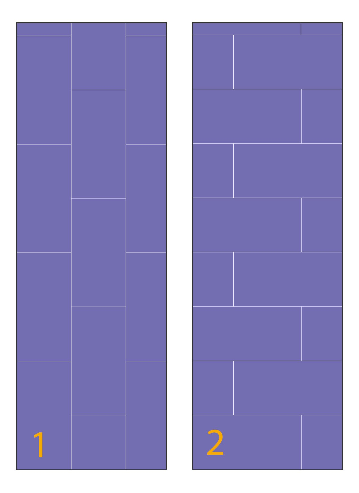 possible drywall layouts