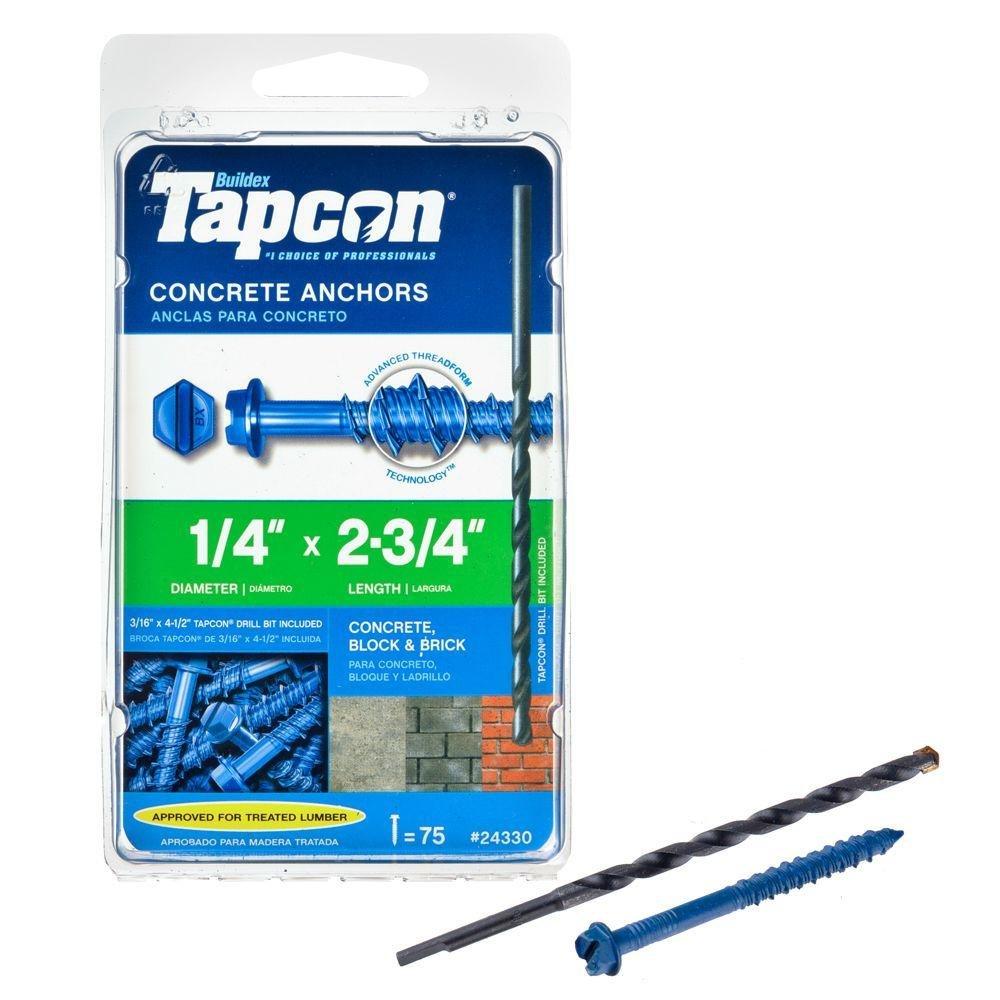 Tapcon screws