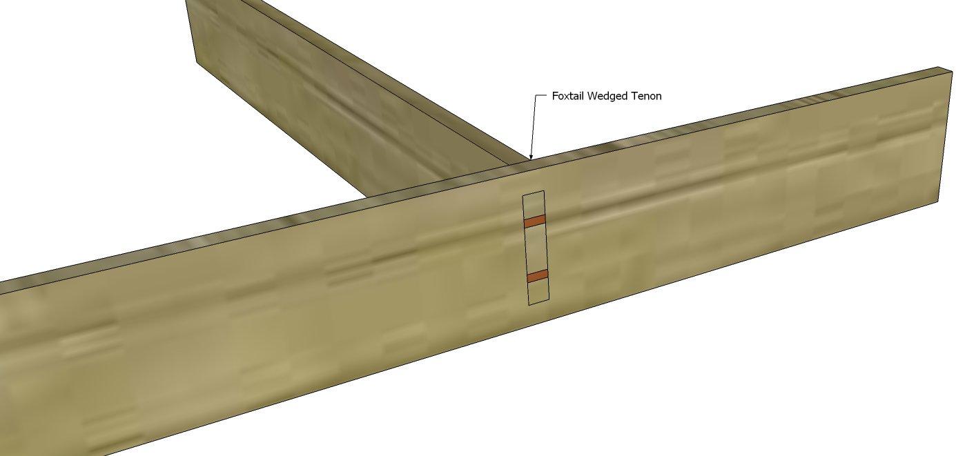 Assembled Fox Tail Tenon